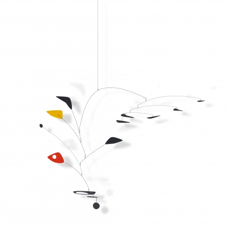 Alexander Calder, Untitled, 1948 Hanging mobile—sheet metal, wire and paint 134.6 x 182.8 x 63.5 cm. (53 x 72 in. x 25 in.) © 2018 Calder Foundation, New York / Artist Right Society (ARS), New York. ©Helly Nahmad Gallery NY.