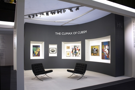 Installation view of the Helly Nahmad Gallery booth at the art fair TEFAF Spring 2019
