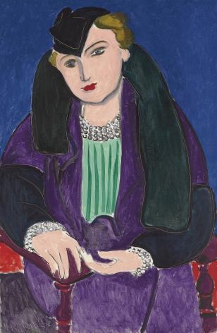 Henri Matisse, Portrait au manteau bleu, 1935, Oil on canvas