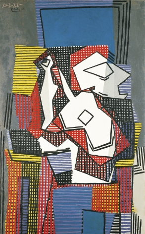Pablo Picasso, Bouteille, Guitare, Compotier, 1922 Oil on canvas 116 x 73 cm. (45 3/4 x 28 3/4 in.)