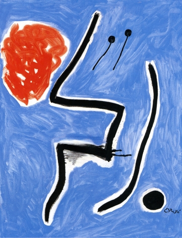 Joan Miró, Oiseaux devant le soleil, 1978 Oil on canvas 116 x 89 cm. (45 5/8 x 35 in.)