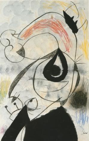 Joan Miró, Personnages, Oiseaux, 1973