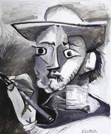 Pablo Picasso, Le Peintre au Chapeau, 17 March 1965 (The Painter with the Hat), 1965, Oil on canvas