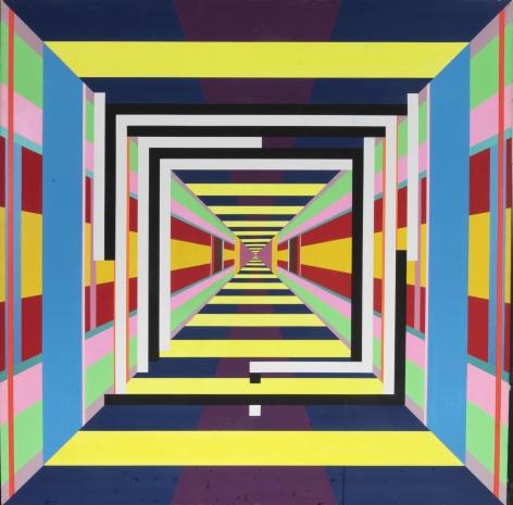 93 (h) 1,1993, Acrylic on panel
