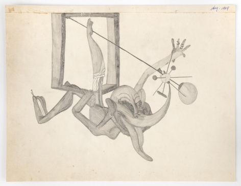 Untitled, 1969, Graphite on paper