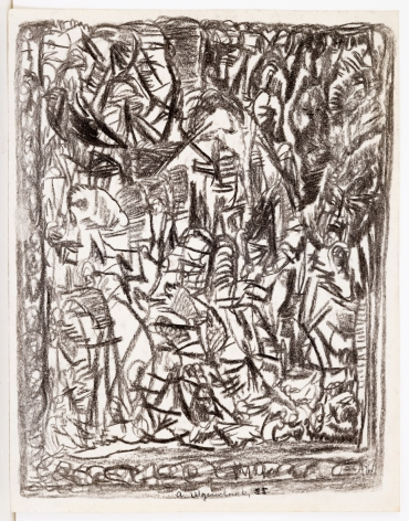 Untitled, 1955, Charcoal on paper