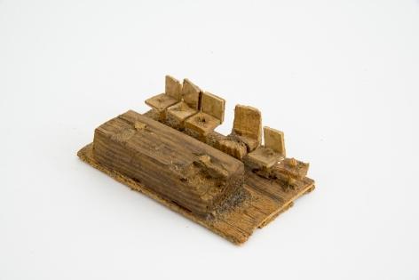 Untitled, n.d., Wood, glue & sawdust