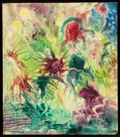 Untitled (No. 419), 1956, Oil on board