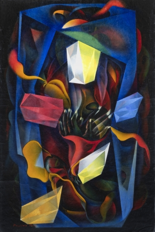 Untitled,1930s-1960s, c. 1980, Oil on board