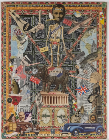 How to Fix A Yankee Blackout, c. 1920-50, Mixed media collage