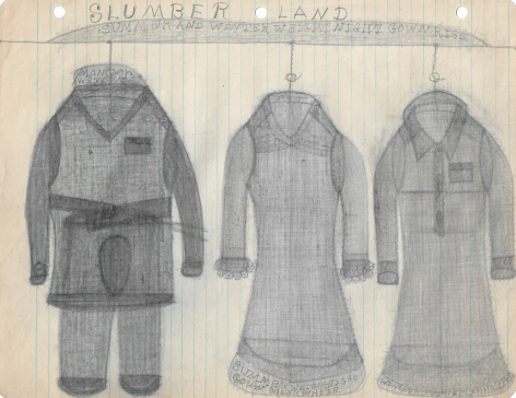 Untitled (Slumber Land, Summer and Winter Weight Nightgown Rigs), c. 1940's