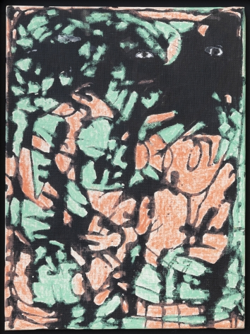 Untitled, c. 1948, Mixed media on canvas board