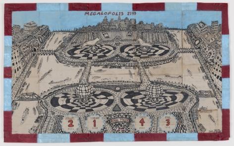 George Widener (b. 1962), Megalopolis 2143, Rare Twins, 2008