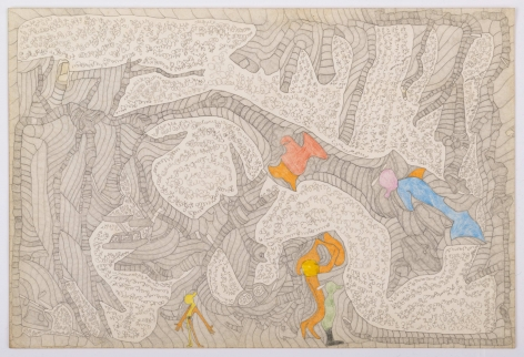 Untitled, c. 1985-1989, Graphite and colored pencil on paper
