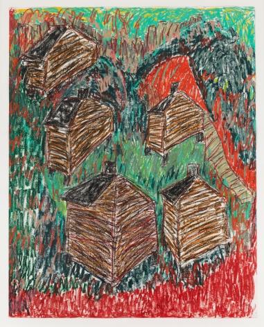 Mayesville, 1997 Oil pastel on paper