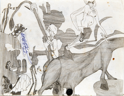 Untitled, c. 1960's, Graphite and ink on paper