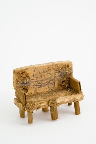 Untitled (bench), n.d., Wood, glue & sawdust