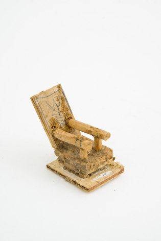 Untitled, n.d., Wood, glue and sawdust