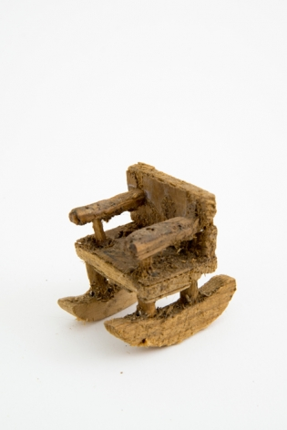 Untitled (chair), n.d., Wood, glue and sawdust