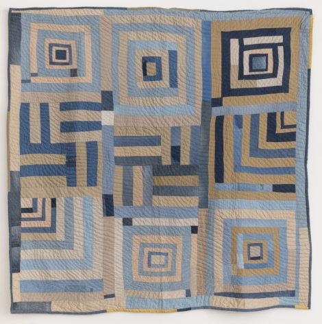 Rita Mae Pettway (b. 1941), Housetop - Half-Log Cabin variation quilt, 2015