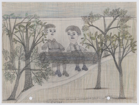 Untitled (Babes Lost in the Woods the Bear Will Find Them in Judea), c. 1940s