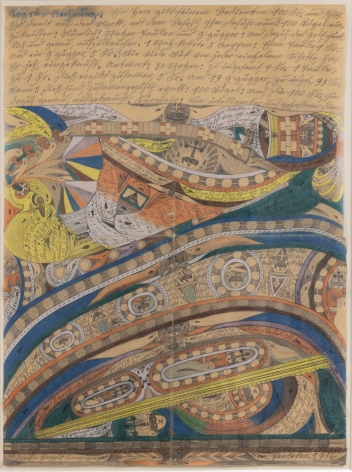 Blast and Heft No 13, 1916, Graphite, colored pencil on paper
