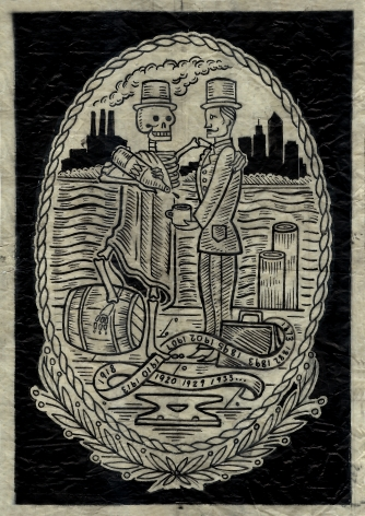 The Census Mixologist, 2011, Ink on canary paper