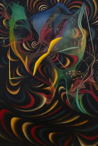 Untitled, 1940s - 1950s, c. 1980, Oil on board