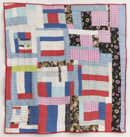 Mary Lee Bendolph (b. 1935), Blocks and strips quilt, 2001