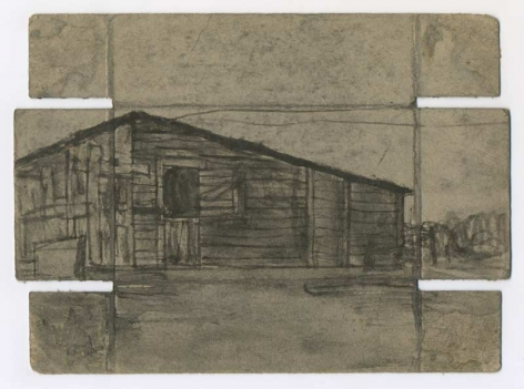 Untitled (Eugene Street Houses / Friend Collection), recto, n.d.