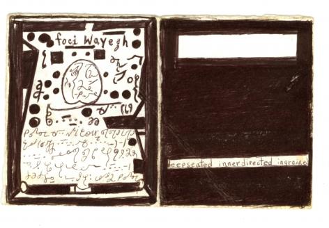 Deepseated Innerdirected Ingrained,2003, Ballpoint pen, marker on paper