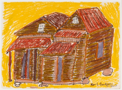 Lamar County, GA, 2003, Oil pastel on paper