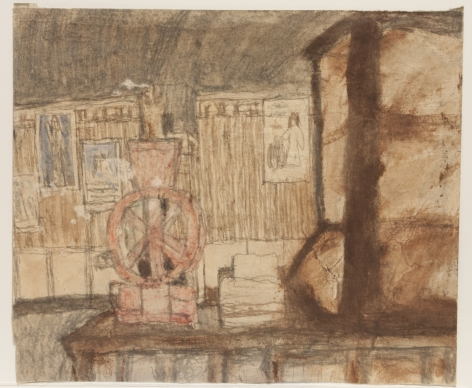 Untitled (Interior with Stove / Interior with Coffee Grinder), verso, n.d.