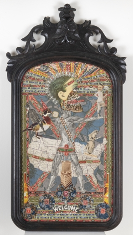 The Marauders Are Coming, c. 1920-50, Mixed media collage