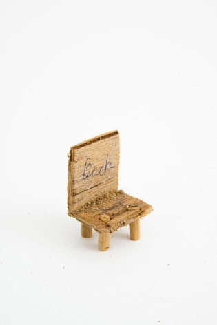 Untitled (chair), n.d., Wood, glue & sawdust