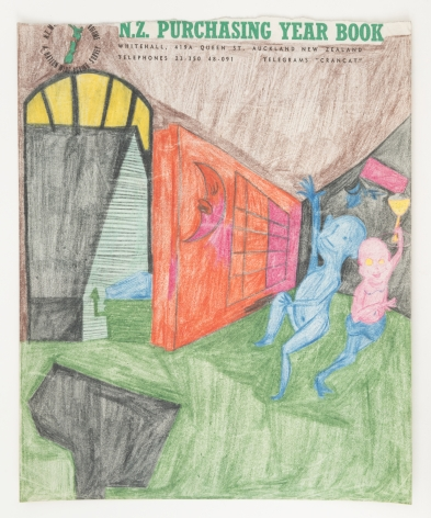 Untitled, c. 1967-1969, Graphite and colored pencil on paper