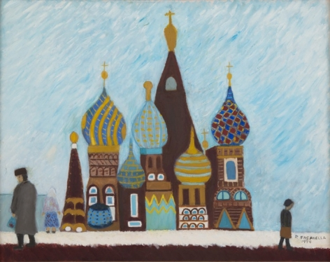Moscow, c. 1990, Oil on canvas