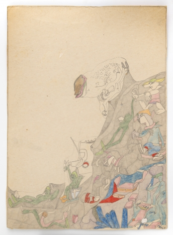 Untitled, c.1975, Graphite and colored pencil on paper