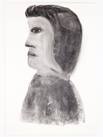 Untitled, n.d., Charcoal on paper