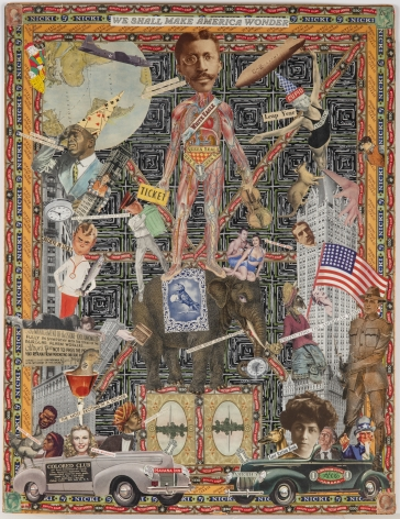 We Shall Make America Wonder, c. 1920-50, Mixed media collage