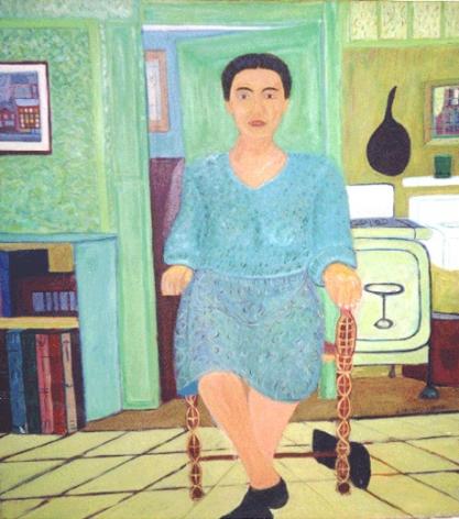Grandma Seated, 1974, Oil on canvas