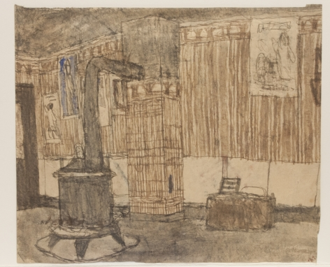 Untitled (Interior with Stove / Interior with Coffee Grinder), recto,  n.d.