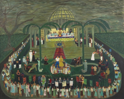 McCarthy Era Garden Party, 1954, Oil on canvas