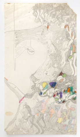 Untitled, c. 1975-1980, Graphite, colored pencil and crayon on paper