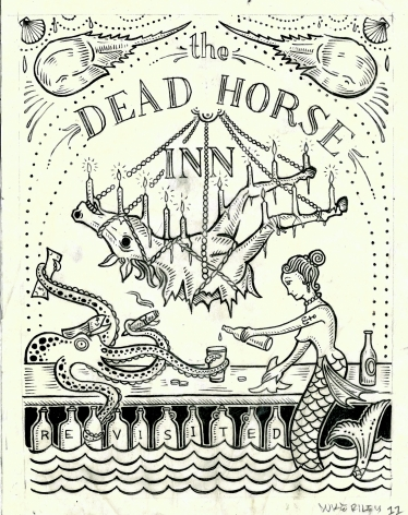 The Dead Horse Inn Revisited, 2012, Ink on canary paper