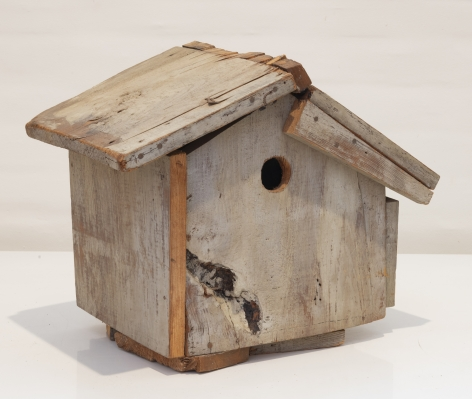 Birdhouse, n.d., Acrylic on wood