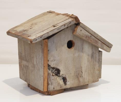 Birdhouse,n.d., Acrylic on wood