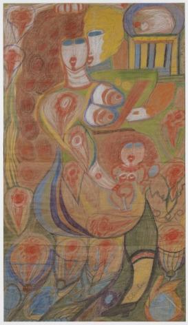 Aloïse Corbaz (1886-1964), Toilette de Venus - Lichtenbourg,1941-1951