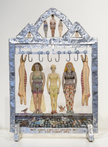 Meat Market Girls Get Dressed (No. 1), 2014, Mixed media