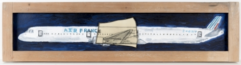 Boeing 777-200 AirFrance F-65P6, 2009, Oil on canvas, graphite on paper
